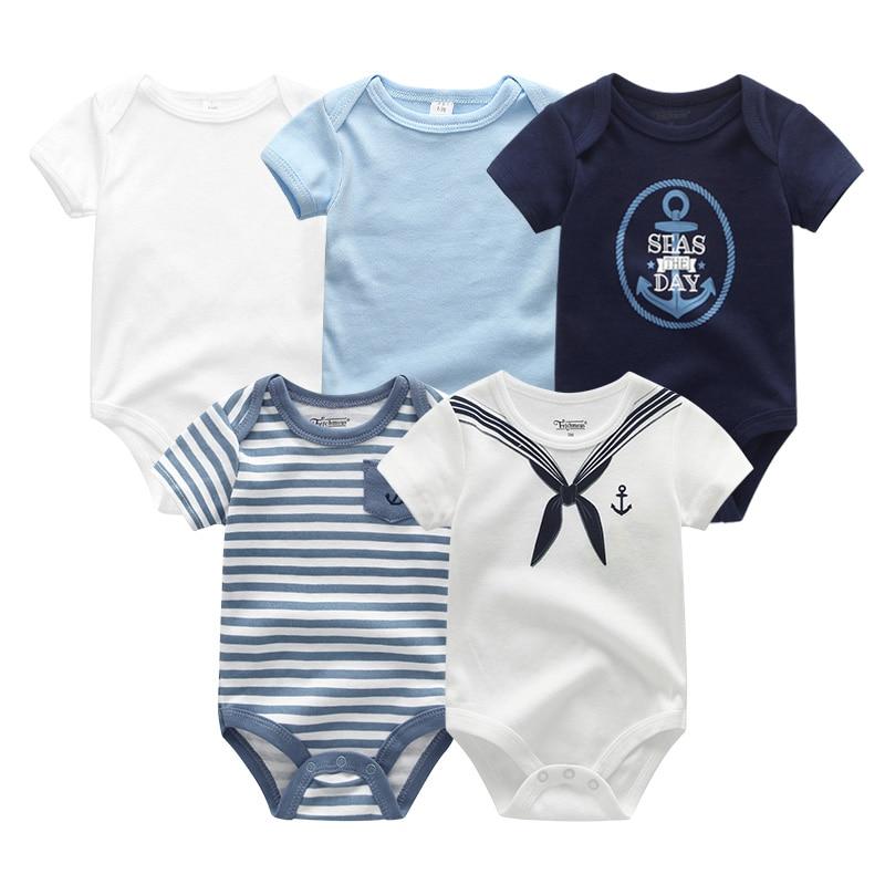 2021 5 шт./лот для маленьких мальчиков одежда с изображением единорога Одежда для девочек Боди для маленьких девочек, одежда для детей от 0 до 12 месяцев, Одежда для новорожденных 100% хлопок для мальчиков и девочек; Roupas de bebe 4