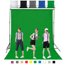 YIXIANG DIY 1M 2M 3M 4M Photography Studio Backdrop Background Screen Durable Non woven Black White Green Gray Blue for Option