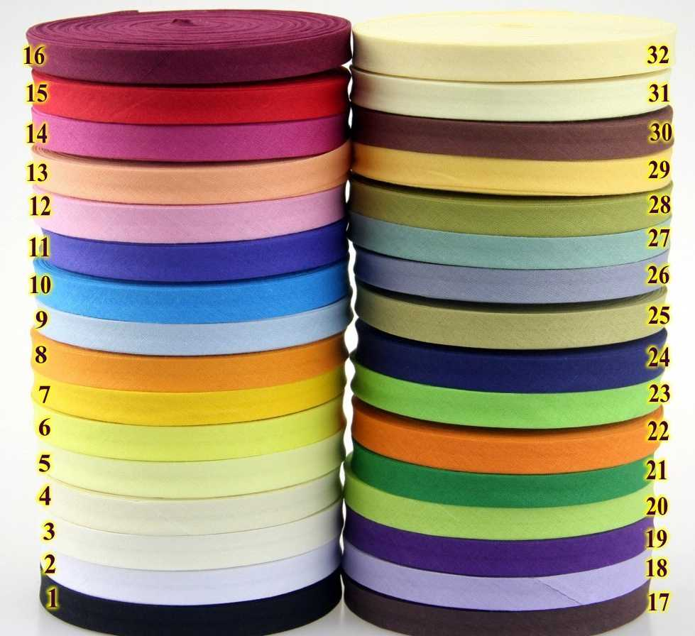 "12mm(1/2 ""), color sólido, plancha estrecha, pliegue único, algodón, polarización, cinta de encuadernación, mantel, ropa, colcha, manualidades, accesorios de costura"