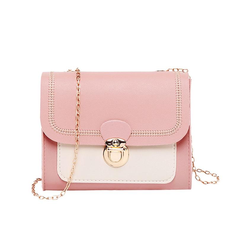Women Shoulder Bags Leather Flap Small Chain Messenger Crossbody Bag Ladies Mini Tote Bolsa Feminina Mini Purse