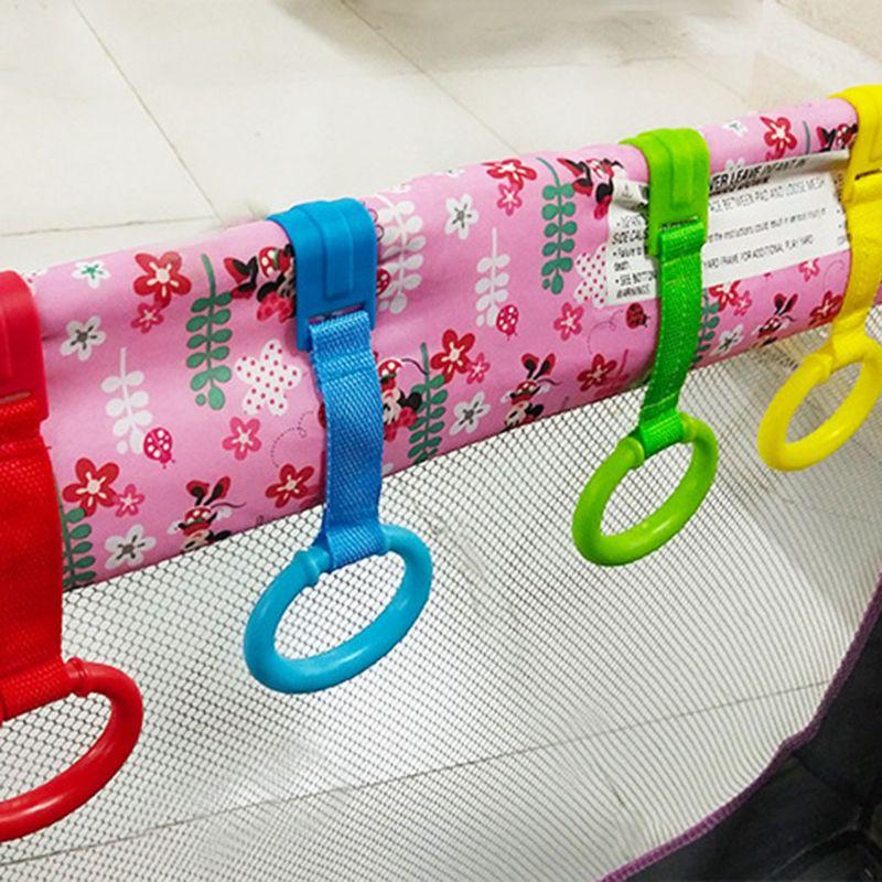 Детская обучающая стоящая кроватка, ручное кольцо для дома, экономия пространства, портативная кровать для новорожденного малыша, подвесное кольцо, игрушки для малышей
