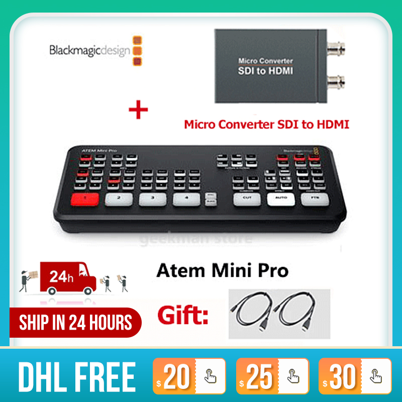 Original Blackmagic Design Atem Mini Pro Atem Mini Hdmi Live Stream Switcher Multi View And Recording New Features Photo Studio Accessories Aliexpress