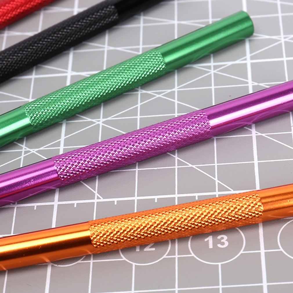 Cuchillo de bisturí de Metal en 7 colores, cortador antideslizante en 11 #, cuchillos de grabado artesanal para computadora portátil, herramientas manuales de reparación DIY, cuchillos knifee