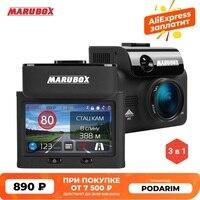 Marubox-grabadora de vídeo M700R, Detector de Radar DVR para coche táctil de firma, GPS, 3 en 1, HD2304 x 1296P, ángulo de 170 grados, idioma ruso
