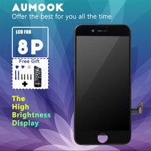 الصف AAA LCD آيفون 8 Plus 8 P شاشة الكريستال السائل مع مجموعة المحولات الرقمية لشاشة تعمل بلمس استبدال جيدة ثلاثية الأبعاد اللمس شحن مجاني