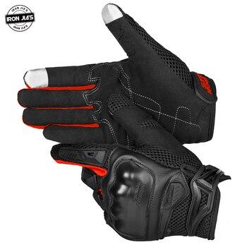 gants de Moto mobylette d'été pour hommes, respirant, équipement de protection pour cyclo-motoriste