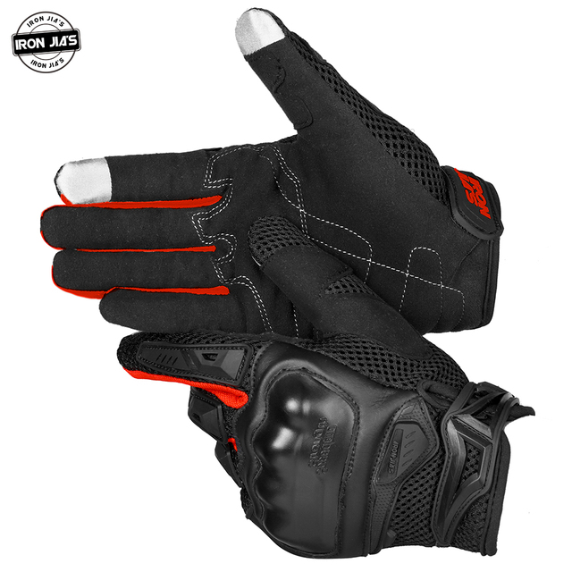 IRON JIA'S Summer Motorcycle Gloves Men Touch Screen Breathable Motobike Riding Moto Protective Gear Motorbike Motocross Gloves 1