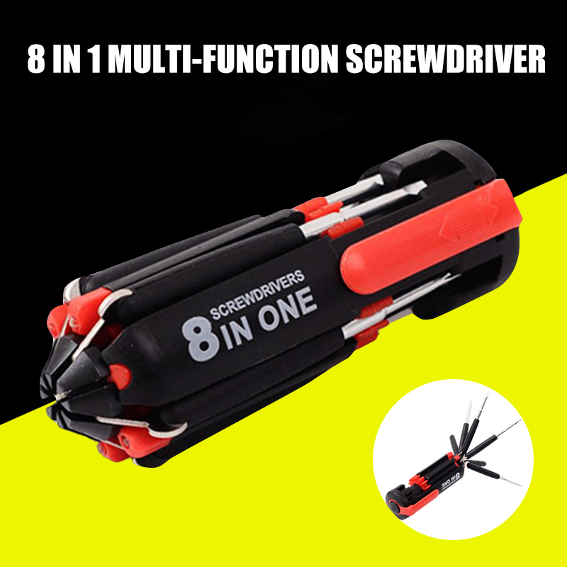 <font><b>8</b></font> <font><b>in</b></font> <font><b>1</b></font> <font><b>Screwdriver</b></font> Multifunctional Tools with <font><b>Flashlight</b></font> for Home Auto Outdoor QP2 image