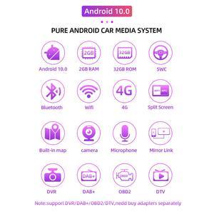 Image 2 - Radio con gps para coche, Radio con navegador, Android 10,0, 2 din, DVD, Wifi, 3G, BT, estéreo, para Ford Focus 2, Mondeo, c max, S, max, Galaxy