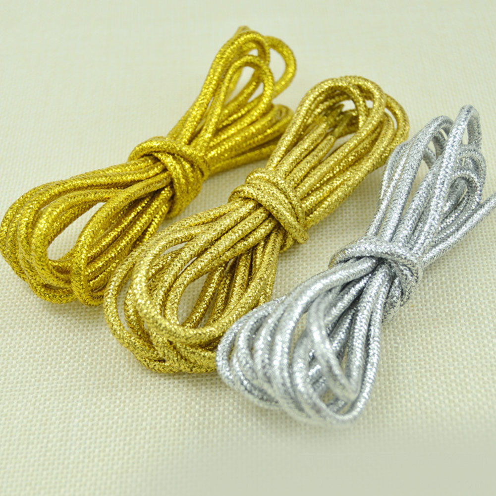 Shiny Gold And Silver Colorful Bright Round Shoelaces 15 Colors 113 Cm Sneaker Sport Shoes Laces Bootlaces Shoe Laces Strings