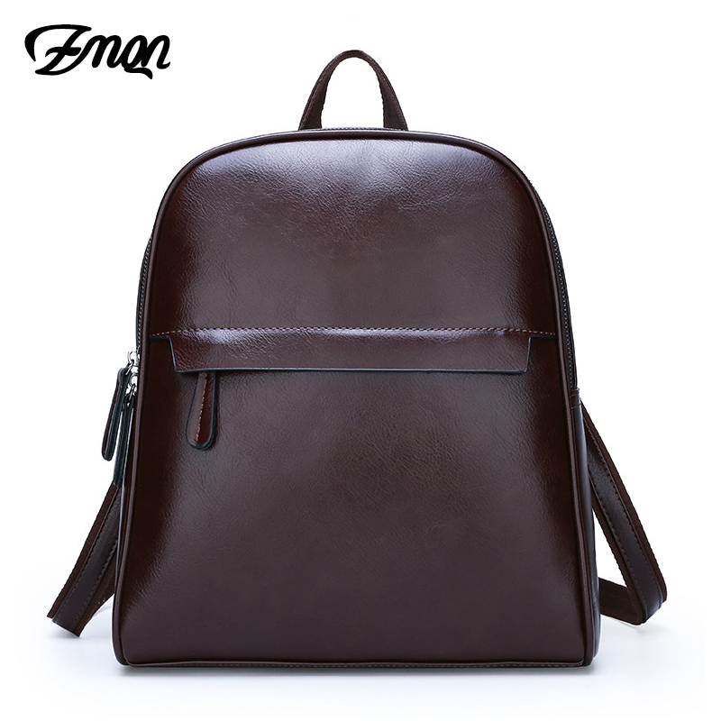 ZMQN Vintage Leather Backpack Women 2019 Mochila Feminina Big Capacity Bagpack School Bags For Teenage Girls Bag For Female C130
