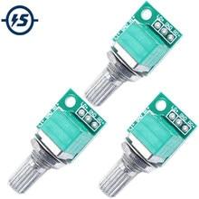 3 stücke Volumen Control Potentiometer 50K Audio Zubehör Dual Verbindung Potansiyometre Volumen Teller Anpassung Ausrüstung