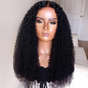 Image 5 - Парик Halo Lady Beauty 13*4 с глубокими вьющимися волосами, бразильские парики из человеческих волос на сетке спереди для афроамериканских женщин, Remy 150% 1B