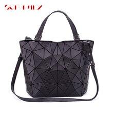 Neue Frauen Taschen Leucht Handtasche Einfachen Klapp Geometrische Umhängetasche Weibliche Tote Casual Hologramm Frauen Schulter Taschen Bao Tasche
