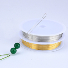 MOQ=1pc High quality Metal Wire 0.3mm/0.4mm/0.5mm/0.6mm Soft Copper Jewelry Beading Wires DIY Accessories Golden Silver Colors