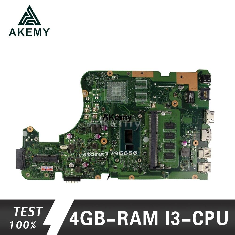Akemy X555LD Laptop Motherboard For ASUS X555LA X555LD X555LF X555LJ X555L X555 Test Original Mainboard 4GB-RAM I3-CPU
