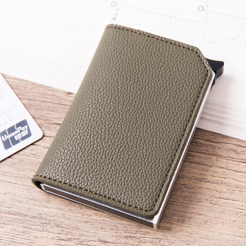 New Style Credit Card Holder Fashion Card ID Holder Men And Women Anti RFID Protection Card Holder Multi-function Card Wallet