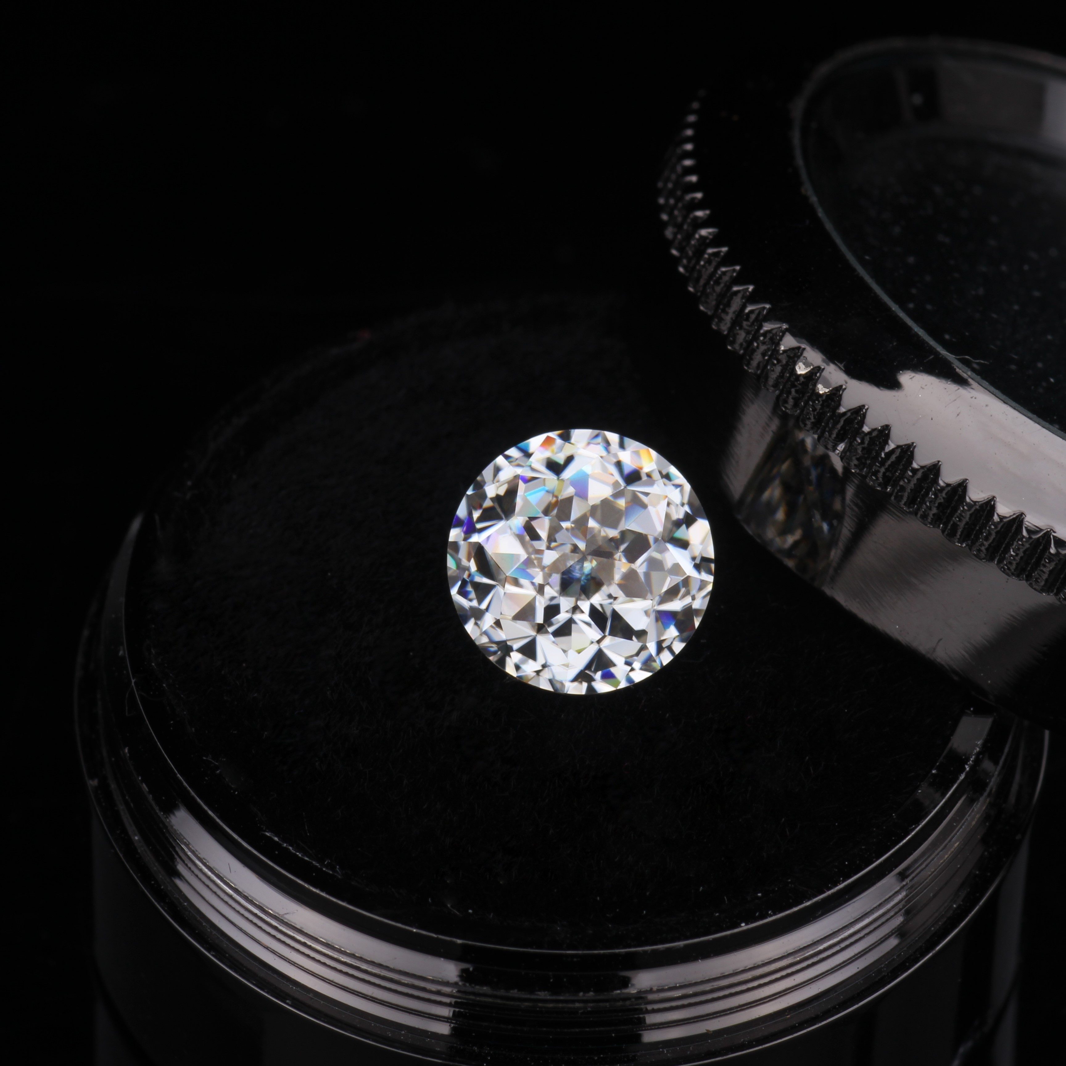 6.5mm 1 carat DEF White Color Round Jubilee Cut Loose Moissanites stone for Jewelry Making