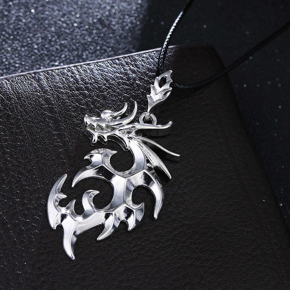 1 Pcs Baru Fashion Unisex Punk Kalung Pria Merk Dragon Liontin Kalung Fashion Perhiasan Adjustable Collares
