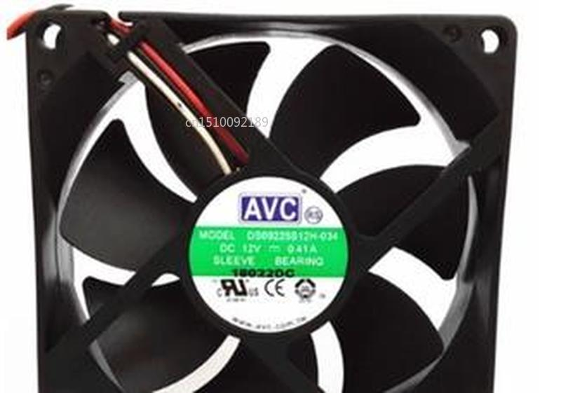 For Original DS09225S12H-034 9CM 9025 12V 0.41A3 Line Chassis Cooling Fan Free Shipping