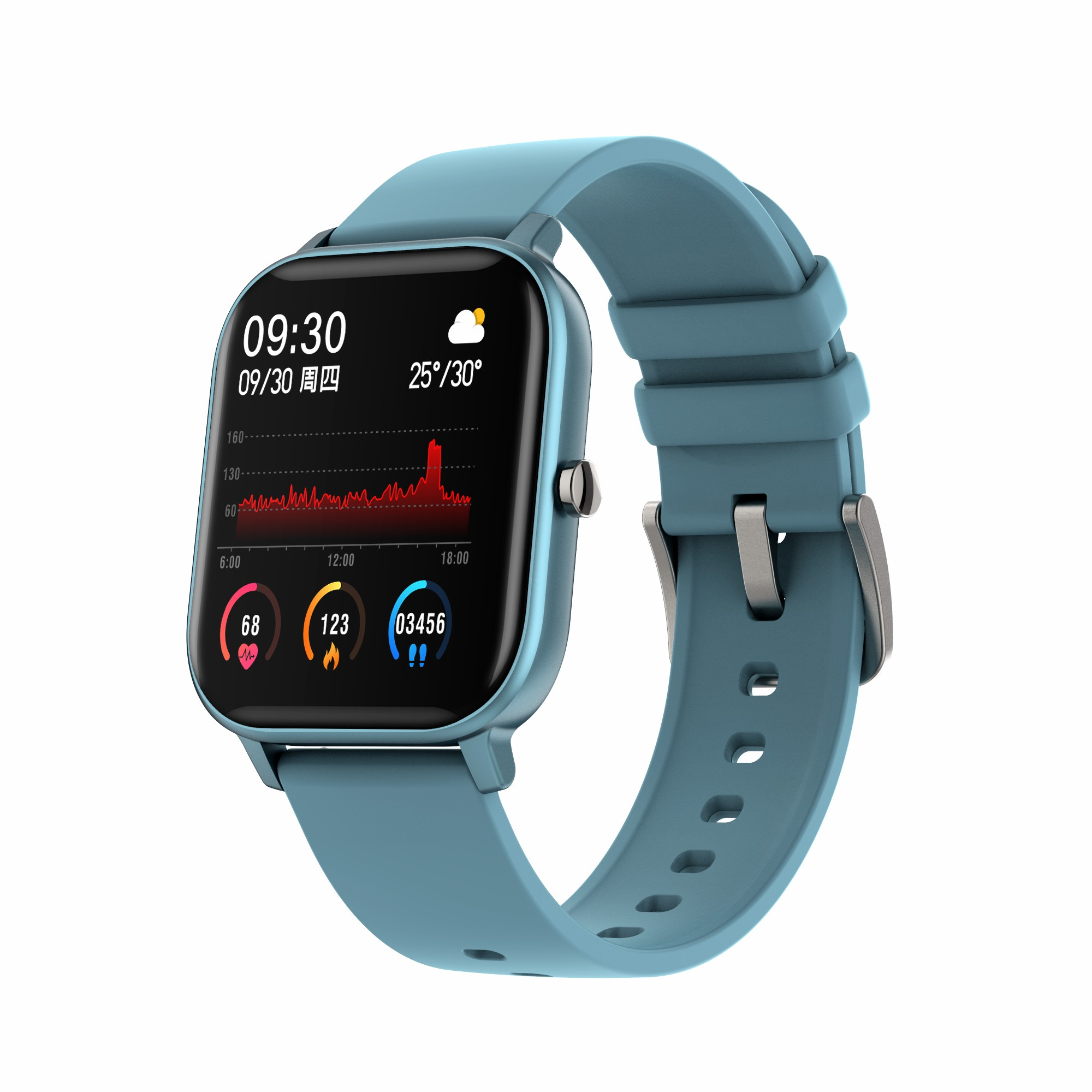 Health and Fitness Smartwatch with Heart Rate, Sleep and Blood Pressure Tracking Men Women Smart Band image