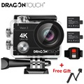 Dragon Touch 4K Экшн-камера 16MP Vision 3 Подводная Водонепроницаемая камера 170 ° широкоугольная WiFi Спортивная камера с пультом дистанционного управлен...