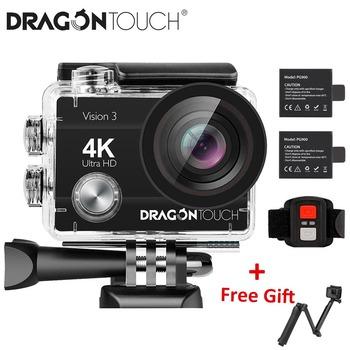 Dragon Touch 4K kamera akcji 16MP Vision 3 podwodna wodoodporna kamera 170 ° szerokokątny WiFi kamera sportowa z pilotem tanie i dobre opinie DragonTouch Seria OmniVision Novatek96650 (1080 P 30FPS) O 14MP 1050mAh 1 4 cali For Home Semi-professional Extreme Sports