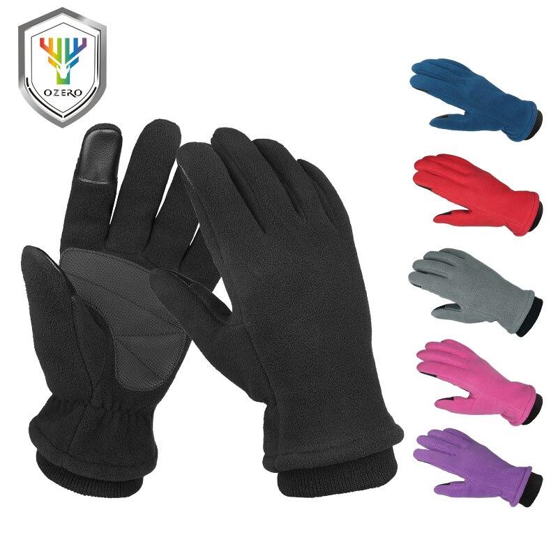 OZERO водонепроницаемые Зимние перчатки для мужчин и женщин, сенсорный экран, пальцы и силиконовая ладонь, ветрозащитные, термостойкие в холо...