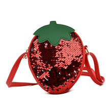 Kinderen Leuke Sequin Fruit Tas Schouder Tas Portemonnee Voor Kind Mini Schoudertas Leuke Sequin Fruit Cross body Bag(China)