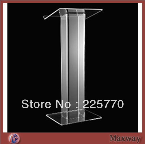 Transparent Acrylic School Lectern / Acrylic Platform / Church Rostrum / Plexiglass Dais Plexiglass