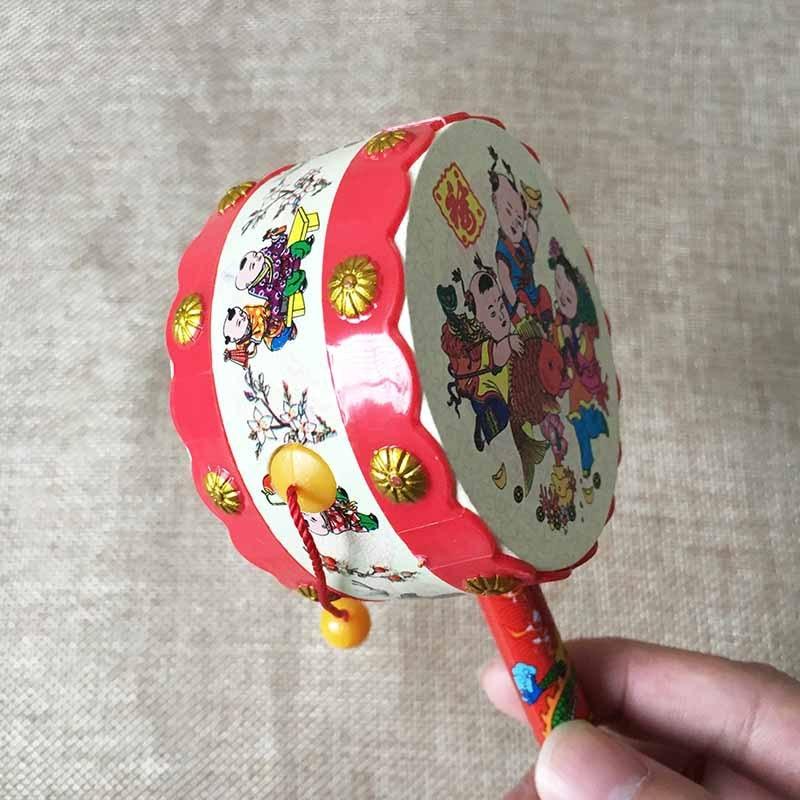Infant 3-6-12 Month Baby Shou Yao Gu Rattle-drum Plastic Mainland China Educational Toy