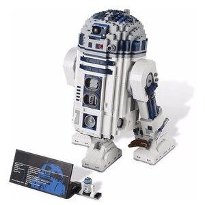 Image 2 - Star brinquedos guerras espaço fora de impressão R2 D2 conjunto robô blocos de construção 2207 peças tijolos brinquedos compatíveis lepining 05043 10225