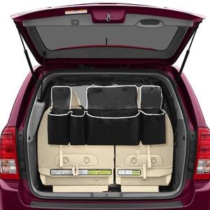 Image 4 - Adjustable Car Trunk Organizer Backseat Storage Bag High Capacity Multi use Oxford Car Seat Back Organizers Automobile Interior