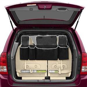 Image 4 - Bagagliaio di Unauto regolabile Organizzatore Sedile Posteriore Sacchetto di Immagazzinaggio di Alta Capacità Multi uso Oxford Auto Sedile Posteriore Organizzatori Interni di Automobili