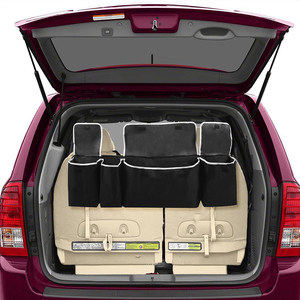 Image 4 - מתכוונן רכב Trunk ארגונית מושב אחורי אחסון תיק קיבולת גבוהה רב להשתמש אוקספורד רכב מושב אחורי מארגני רכב פנים