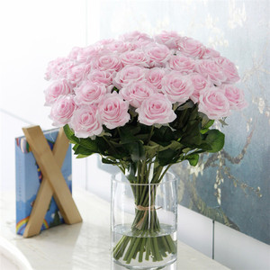 Image 4 - 25pcs/lot New Artificial Flowers Rose Peony Flower Home Decoration Wedding Bridal Bouquet Flower High Quality 9 Colors