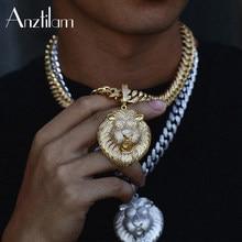 Alta qualidade prata cor aaa + zircão pedra bling cubana chain link gargantilha para homem