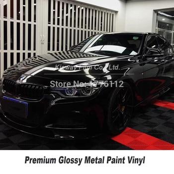 Автомобильная оберточная пленка глянцевая черная упаковка для автомобиля черная металлическая оберточная пленка гарантия качества рулон ...