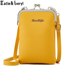 New Colorful Small Cellphone Bag Female Fashion Daily Use Shoulder Bags Women Leather Mini Crossbody Messenger Bag Ladies Purse