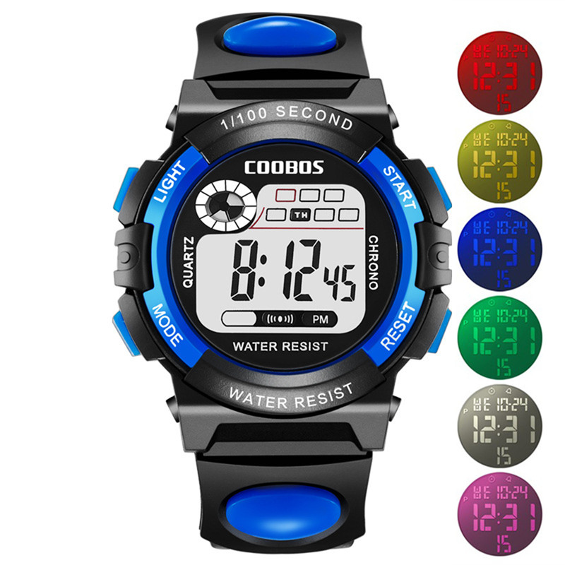 Sports Student Children Watch Kids Watches Boys Girls Clock Child LED Digital Children's Wristwatch Electronic For Baby Hour Hot