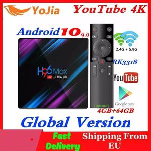 Image 1 - H96 MAX Smart TV Box Android 10.0 RK3318 4GB RAM 64GB ROM 4K WiFi Media Player Android 9.0 10 H96MAX TVBOX Youtube Set Top BOX