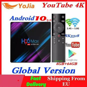 H96 MAX Smart TV Box Android 10.0 RK3318 4GB RAM 64GB ROM 4K WiFi Media Player Android 9.0 10 H96MAX TVBOX Youtube Set Top BOX