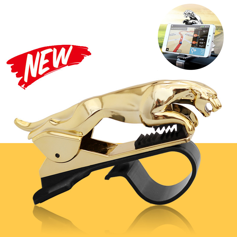 Leopard Universal Car Phone Holder Adjustable Dashboard Mount Clip Mobile Smart Phone GPS Stand Bracket For All Phone 2019 New