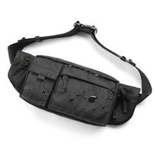 MOYYI 방수 Crossbody 가방 남자 캐주얼 어깨 가방 스포츠 벨트 가슴 가방 지퍼 다층 Backbags 허리 팩