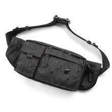 Сумка Кроссбоди MOYYI Мужская водонепроницаемая, повседневная сумочка на ремне для занятий спортом, нагрудной мешок на молнии, многослойная поясная сумка