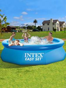 Swimming-Pool-And-Accessories Pool-Intex Baby Kids Inflatable Round Top-Ring Super-Thick