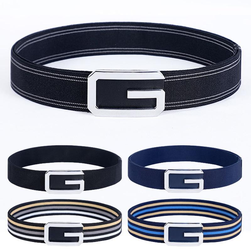 Fashion G Buckle Elastic Belt For Men Casual Jeans Dress Ladies Belt Men's Belt Elastic Band  Designer Belts Women High Quality