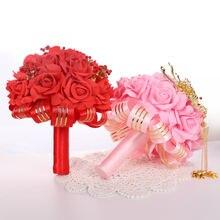 Элегантные красные свадебные букеты Новое поступление 2020 Свадебные