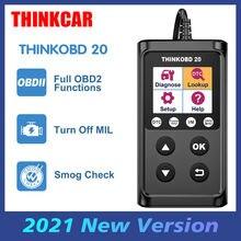 THINKCAR ThinkOBD 20 outils de diagnostic de voiture, Scanner automobile OBD 2, lecteur de Code EOBD en russe, mise à jour gratuite