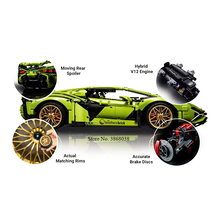 2020 New Lepining technology Sian FKP37 Roadste 42115 Lamborghini SIAN racing car toy building block model building block gift